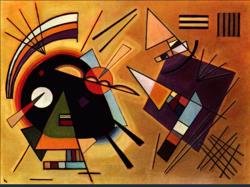1923 Black and Violet by Wassily Kandinsky | Abstract Art Online - Oil Paintings Gallery