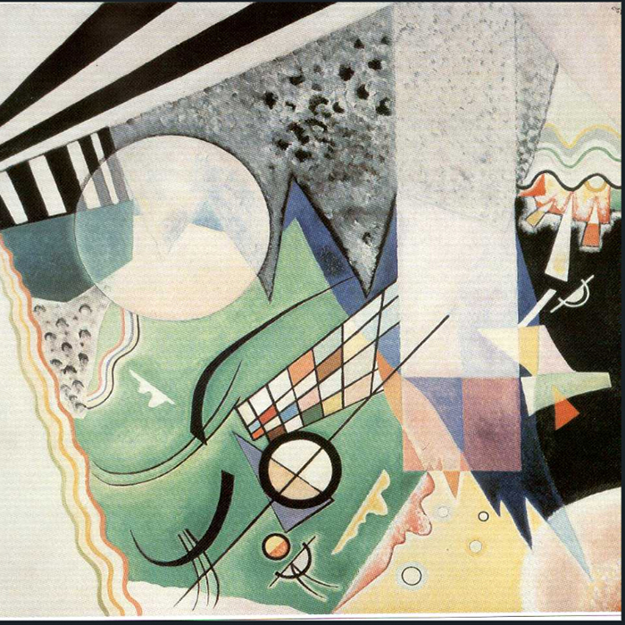 1923 Green Composition by Wassily Kandinsky | Abstract Oil Paintings - Oil Paintings Gallery