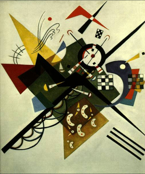 1923 On White II by Wassily Kandinsky | Acrylic Paintings - Oil Paintings Gallery