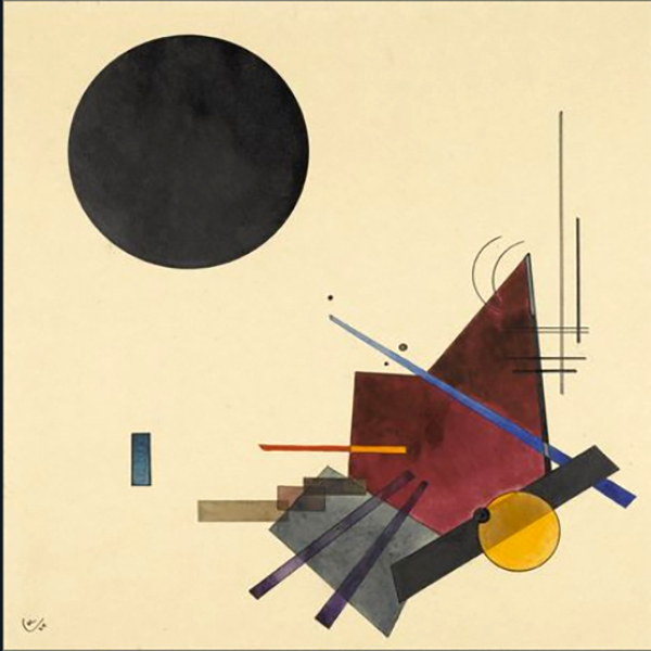 """1924 Black Relationship"" by  Wassily Kandinsky"