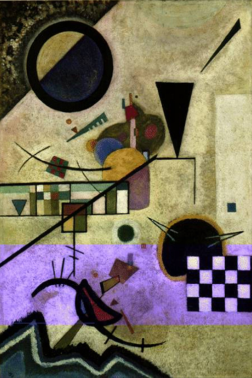 """1924 Contrasting Sounds"" by  Wassily Kandinsky"