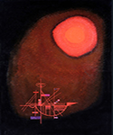1925 Sun and Ship by  Wassily Kandinsky (Painting ID: AA-0127-KA)