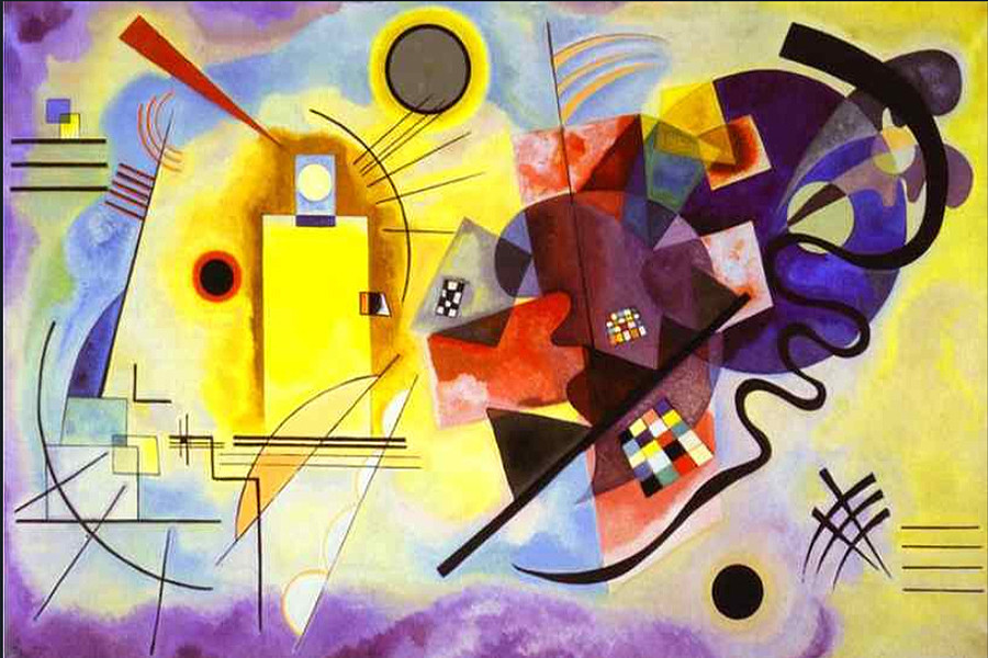 1925 Yellow-Red-Blue by Wassily Kandinsky | Art Online Store - Oil Paintings Gallery