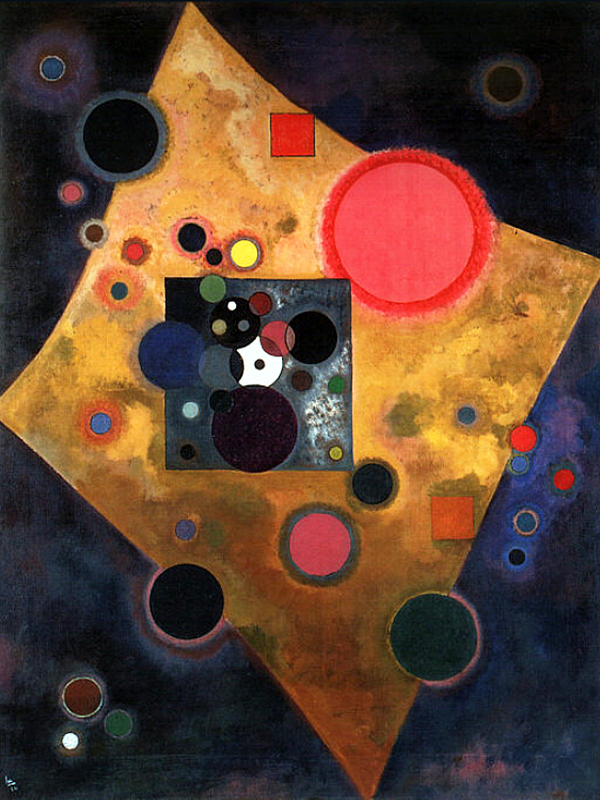 """1926 Accent on Rose"" by  Wassily Kandinsky"