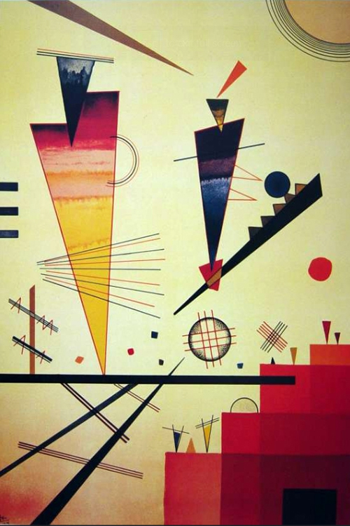 1926 Merry Structure by Wassily Kandinsky | Art Shop Online - Oil Paintings Gallery