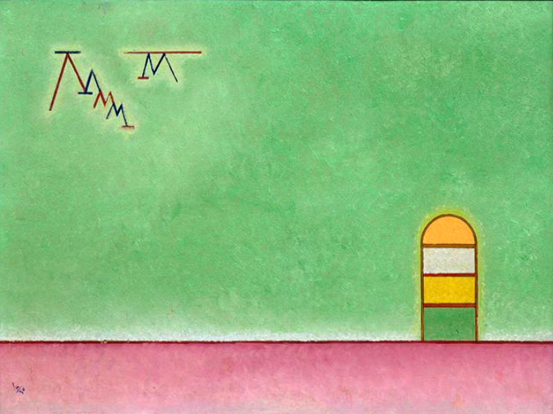 1930 Green Emptiness by Wassily Kandinsky | Contemporary Art Paintings - Oil Paintings Gallery