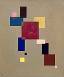 1930 Thirteen Rectangles by  Wassily Kandinsky (Painting ID: AA-0148-KA)