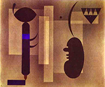 1933 Gloomy Situation by  Wassily Kandinsky (Painting ID: AA-0152-KA)