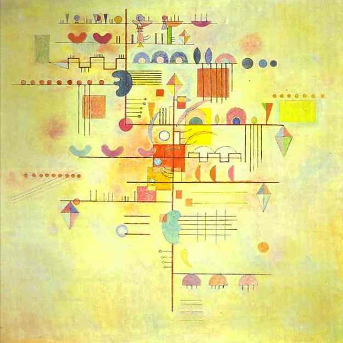 1934 Gentle Accent by Wassily Kandinsky | Figurative Paintings - Oil Paintings Gallery