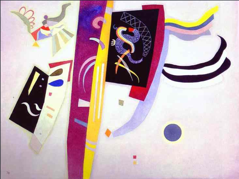 """1935 Orange-Violet"" by  Wassily Kandinsky"