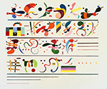 1935 Succession by  Wassily Kandinsky (Painting ID: AA-0159-KA)