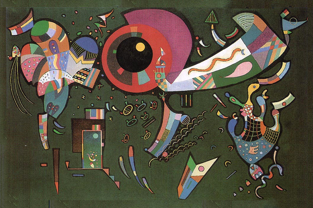 1940 Around the Circle by Wassily Kandinsky | Modern Art Artists - Oil Paintings Gallery