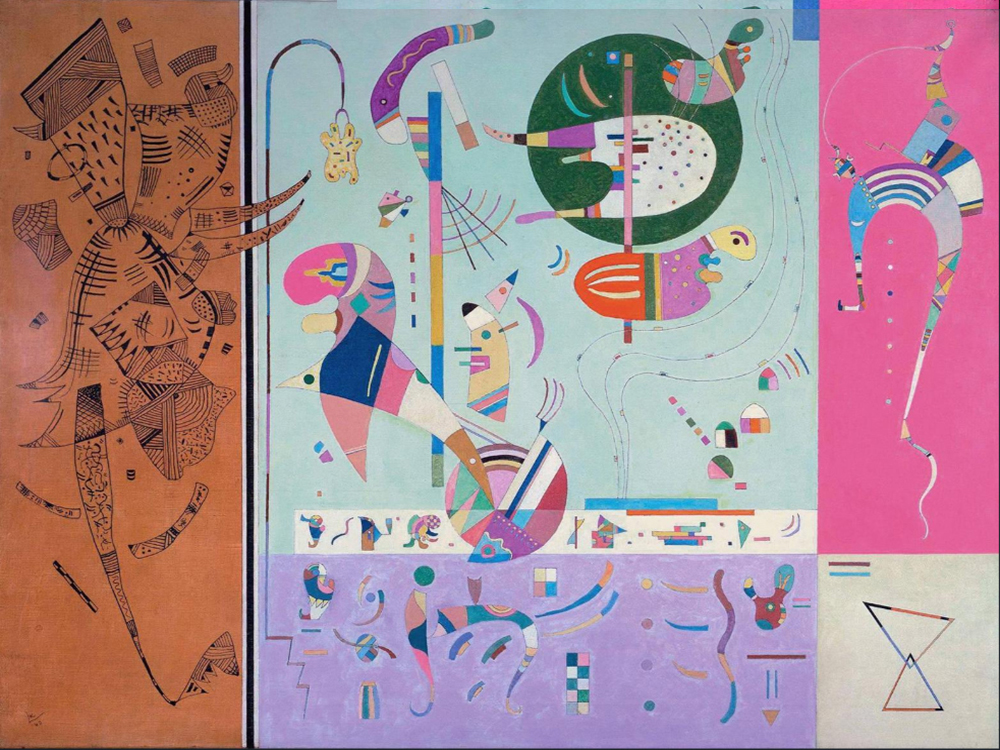 1940 Various Parts by Wassily Kandinsky | Modern Art Online Gallery - Oil Paintings Gallery