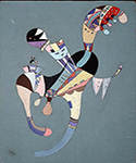 1942 A Floating Figure by  Wassily Kandinsky (Painting ID: AA-0171-KA)