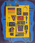 1943 Conglomerate by  Wassily Kandinsky (Painting ID: AA-0176-KA)