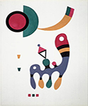 1944 Composition by  Wassily Kandinsky (Painting ID: AA-0179-KA)