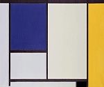 White Blue and Yellow by  Piet Mondrian (Painting ID: AA-0303-KA)