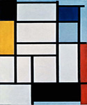 Composition with Red Black Yellow Blue and Grey by  Piet Mondrian (Painting ID: AA-0309-KA)