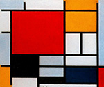 Red Black Yellow Blue and Grey by  Piet Mondrian (Painting ID: AA-0311-KA)