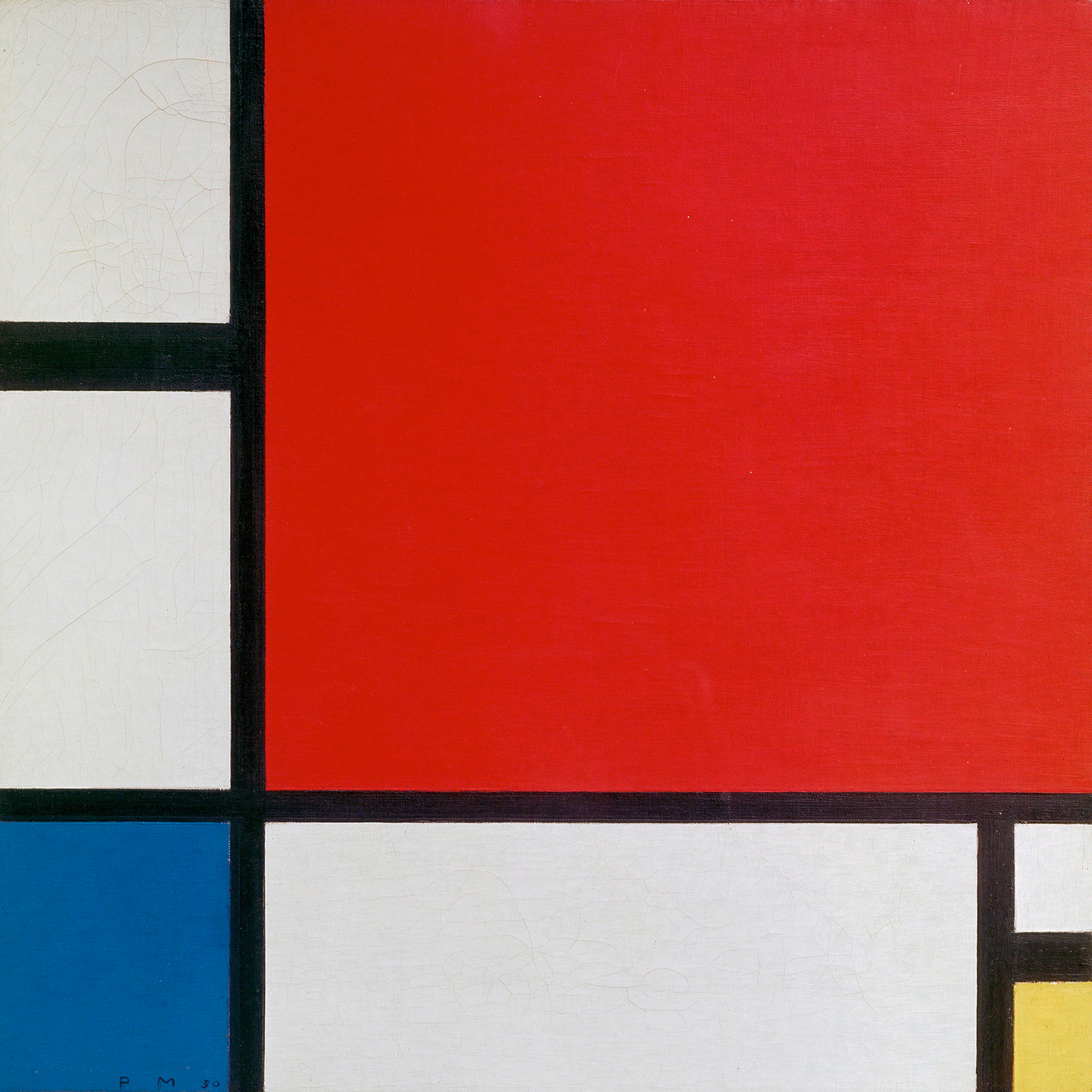 """Red, Blue, and Yellow"" by  Piet Mondrian"