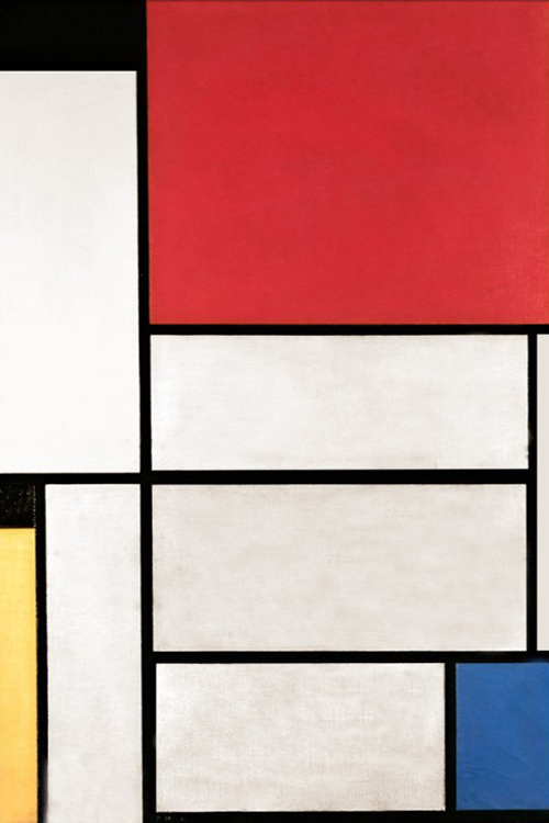 Tableau 1 by Piet Mondrian | Abstract Contemporary Paintings - Oil Paintings Gallery