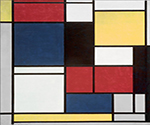 Tableau 2 by  Piet Mondrian (Painting ID: AA-0325-KA)