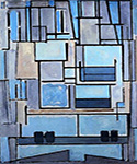 Composition 9 by  Piet Mondrian (Painting ID: AA-0327-KA)