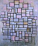 Composition 6 by  Piet Mondrian (Painting ID: AA-0329-KA)