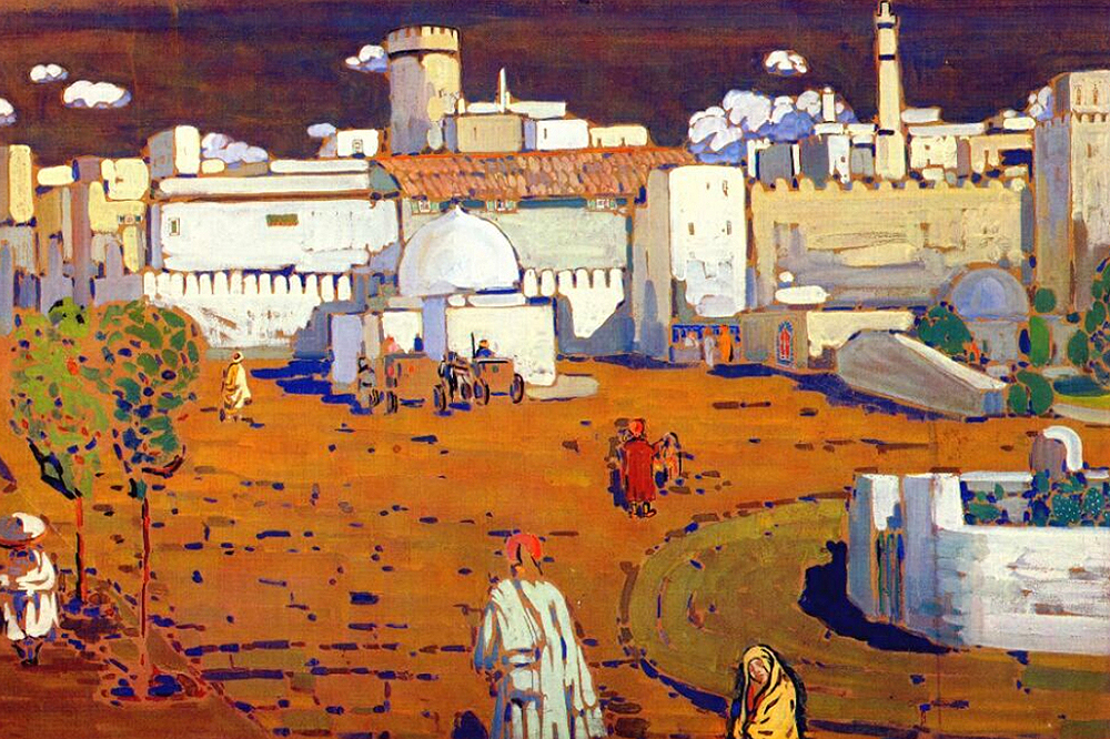 1905 Arab Town by Wassily Kandinsky | Painted Artwork - Oil Paintings Gallery