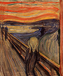 The Scream by  Edvard Munch (Painting ID: AB-0752-KA)