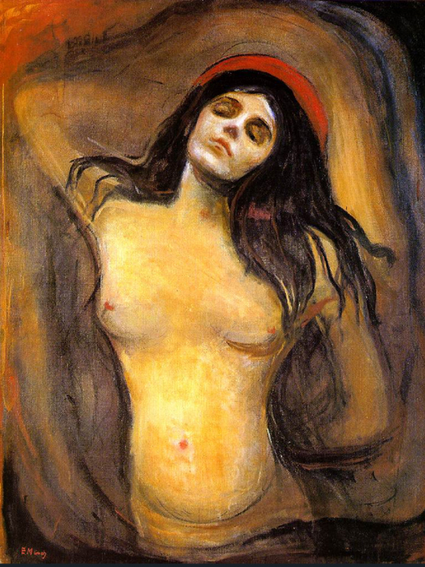 Madonna 1894 by Edvard Munch | Painting Reproduction - Oil Paintings Gallery