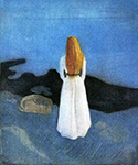Young Woman on the Shore 1896 by  Edvard Munch (Painting ID: AB-0754-KA)