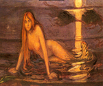 Lady from the Sea 1896 by  Edvard Munch (Painting ID: AB-0755-KA)