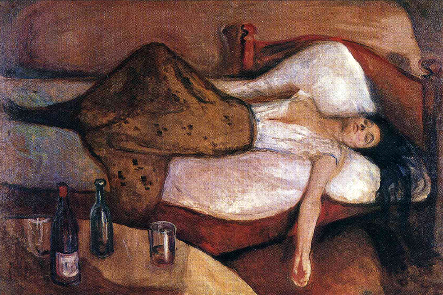 The Day After 1895 by Edvard Munch | Paintings On Canvas For Sale - Oil Paintings Gallery