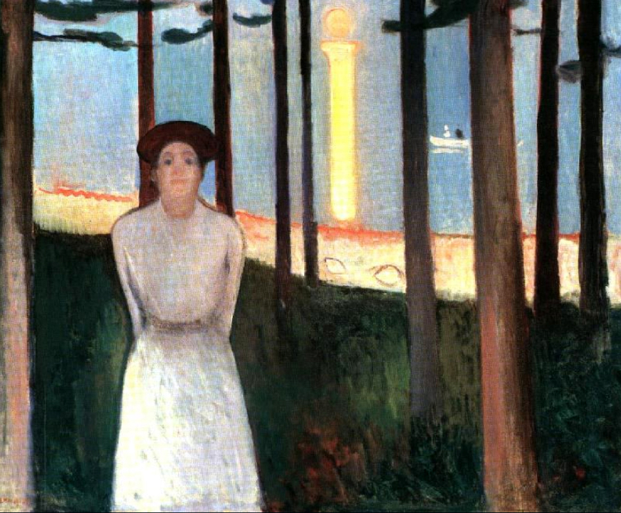 The Voice 1893 by Edvard Munch | Paintings Reproduction - Oil Paintings Gallery