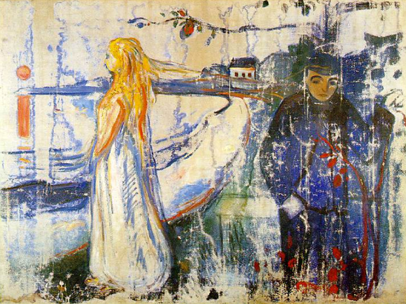 Separation 1894 by Edvard Munch | Portrait Oil Painting - Oil Paintings Gallery