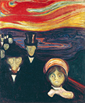 Anxiety 1894 by  Edvard Munch (Painting ID: AB-0771-KA)