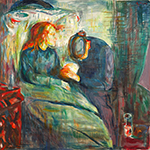 The Sick Child 1927 by  Edvard Munch (Painting ID: AB-0774-KA)