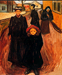Four Ages in Life 1902 by  Edvard Munch (Painting ID: AB-0776-KA)