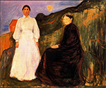 Mother and Daughter 1897  by  Edvard Munch (Painting ID: AB-0777-KA)