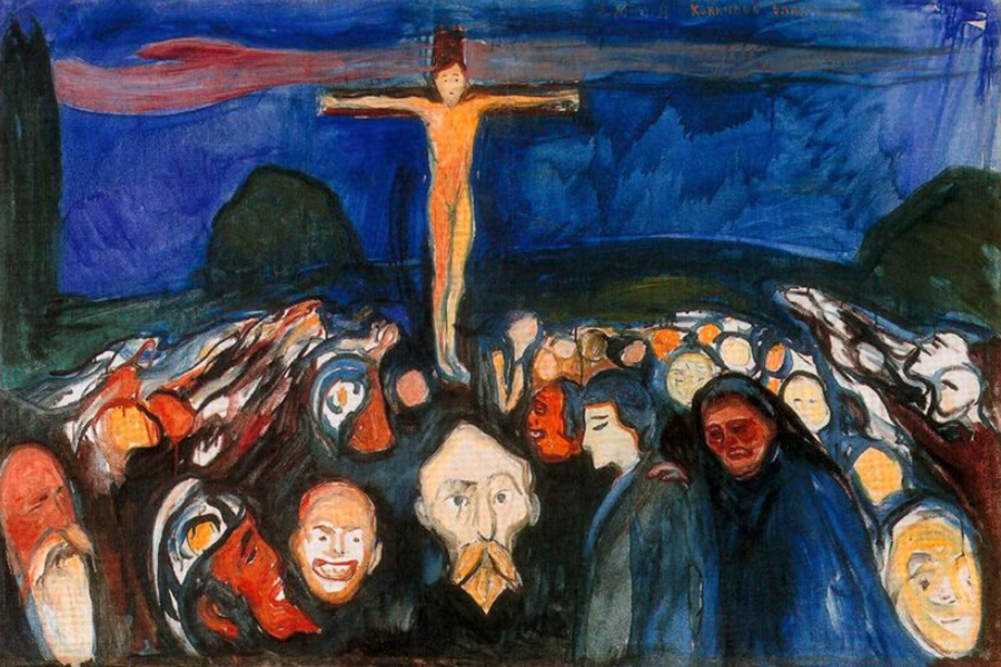 Golgotha 1900 by Edvard Munch | Abstract Landscape Paintings - Oil Paintings Gallery