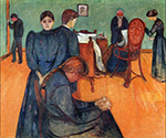 Death in the Sickroom 1893 by  Edvard Munch (Painting ID: AB-0880-KA)