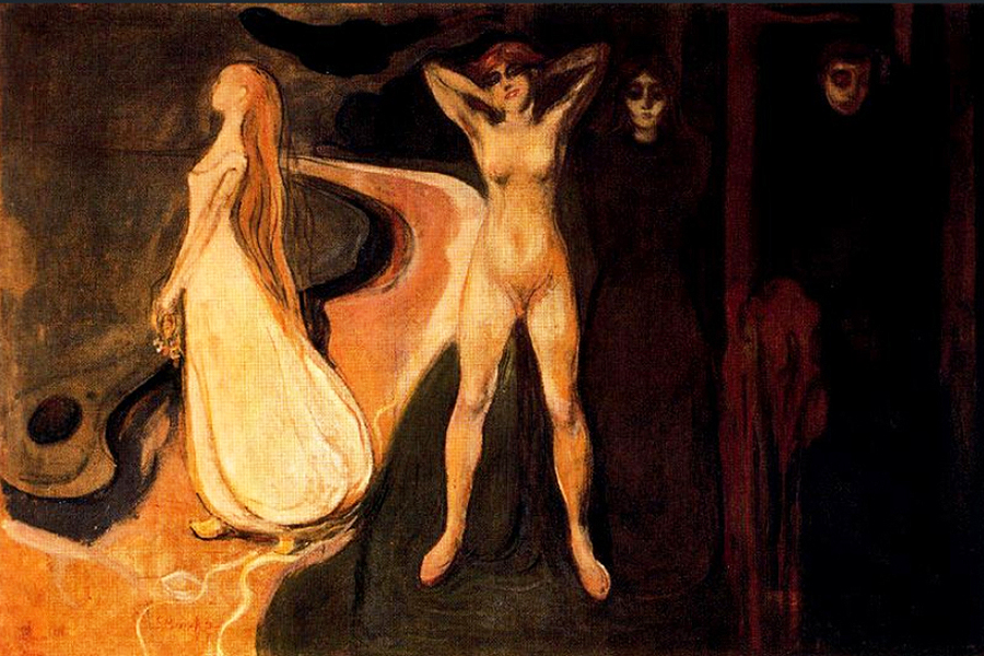 The Three Stages of Woman 1894 by Edvard Munch | Angel Paintings - Oil Paintings Gallery