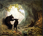 Bear and Cubs by  William Holbrook Beard (Painting ID: AF-0052-KA)