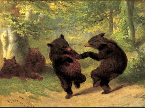 Buy William Holbrook Beard's Paintings | Artist Painting Online - Dancing Bears