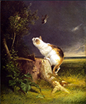 The Birdwatcher by  William Holbrook Beard (Painting ID: AF-0060-KA)