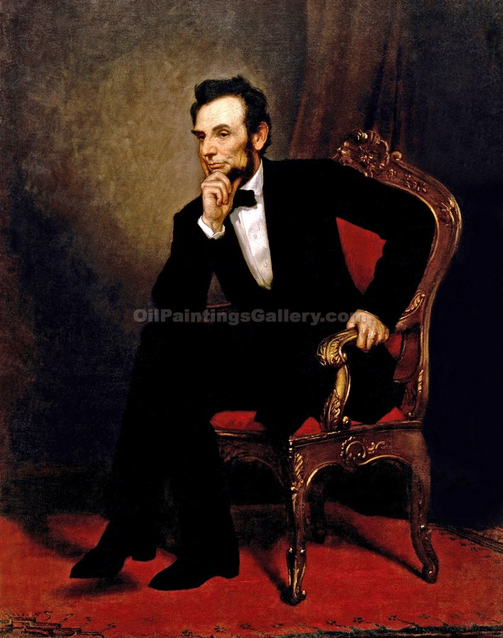"""Abraham Lincoln, 16th President, Painted by George Peter Alexander Healy"""