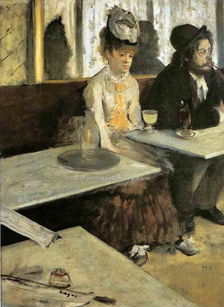 """Absinthe"" by  Edgar Degas"