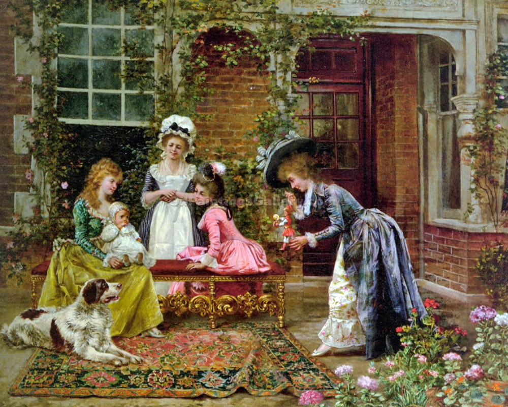 """Admiring the Baby"" by  Francois Brunery"