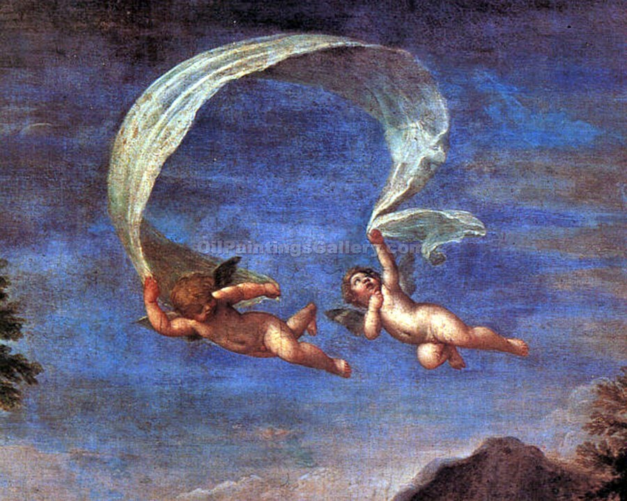 """Adonis Led By Cupids to Venus (Detail)"" by  Francesco Albani"